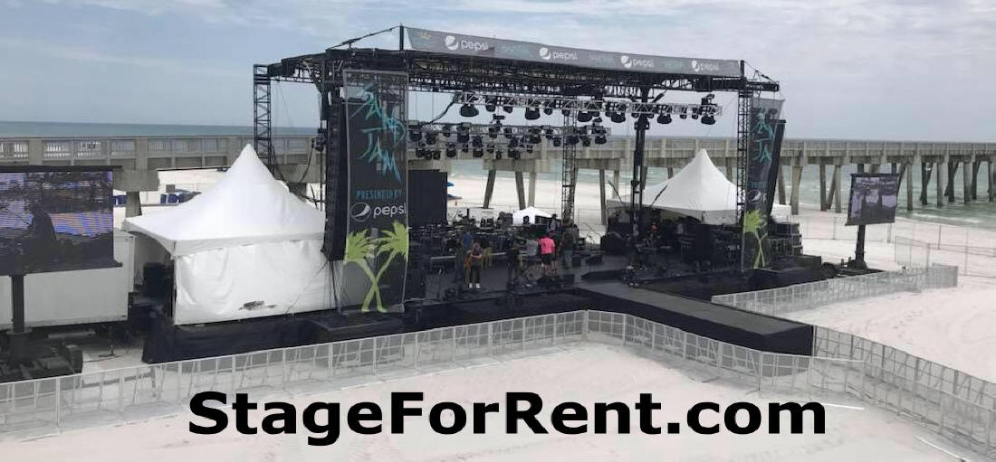 High quality temporary event staging infrastructure and equipment for rent.